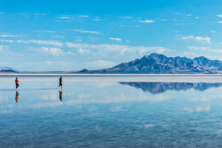 美國博納維爾鹽湖(Lake Bonneville)