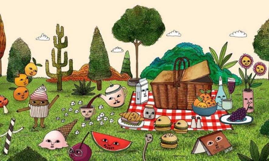 Suntur 2013年創作的插畫「Picnic with Suntur」