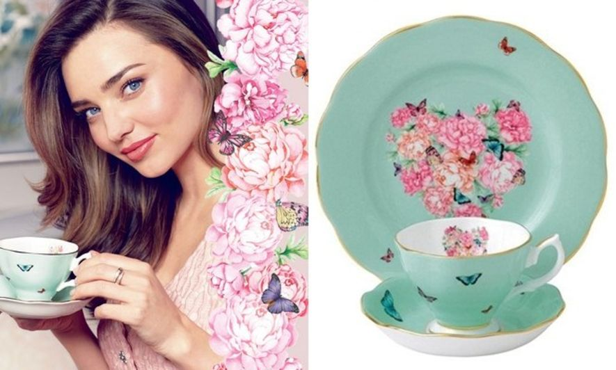 花漾精緻!Miranda Kerr X Royal Albert 瓷器系列