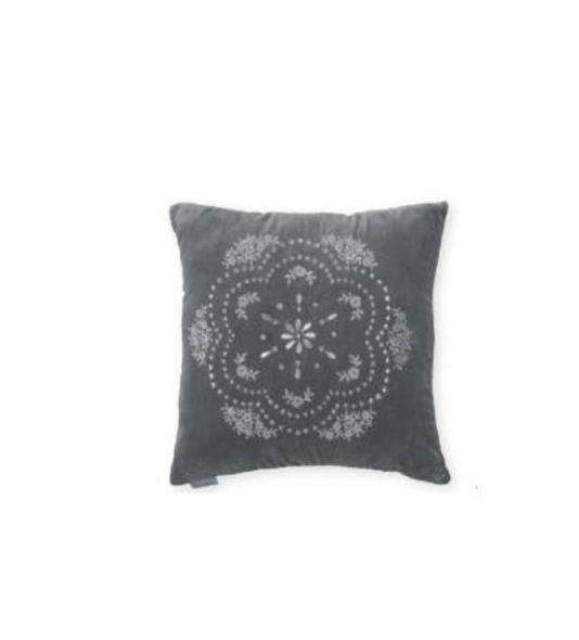 18 Cushion Cover Velvet Anouk Warm Grey 40 Cm X 40cm