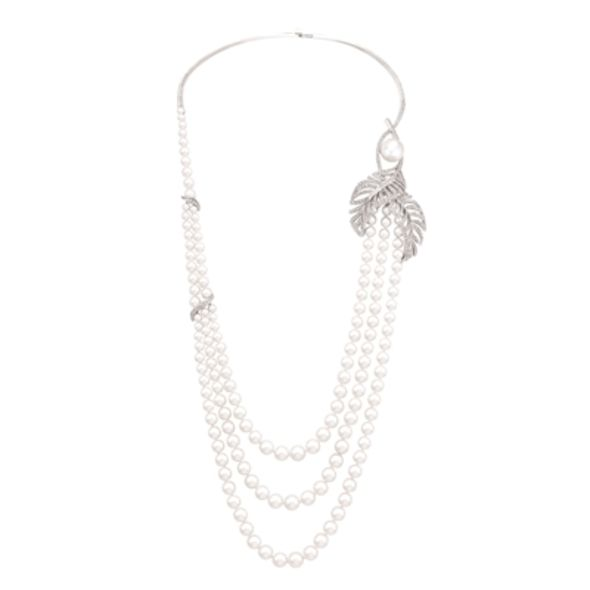 wedding jewel, pearl necklace, chanel pearl collar