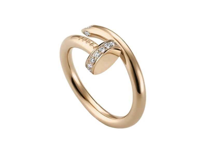Juste un Clou ring, pink gold, diamonds