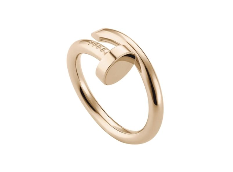 Juste un clou ring, pink gold