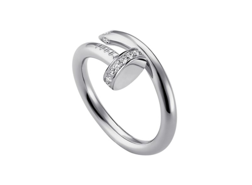 Juste un clou ring, white gold, diamonds