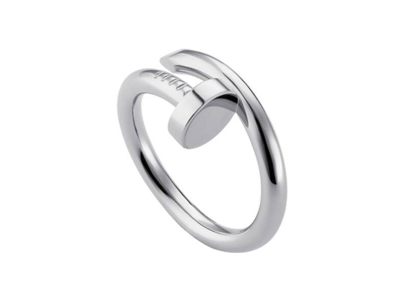 Juste un Clou ring, white gold