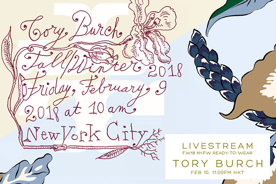 Tory Burch, 2018秋冬, FW18, 時裝周, 2018 fall winter fashion week,現場直播, Livestream