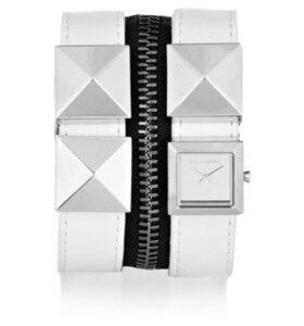 Karl Zip studded leather watch