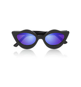 Lipstick cat eye acetate mirrored sunglasses