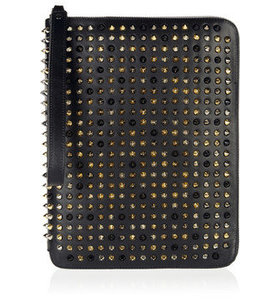 Studded leather iPad case