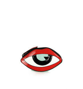 Womens Lip Eye Coin Purse - Red