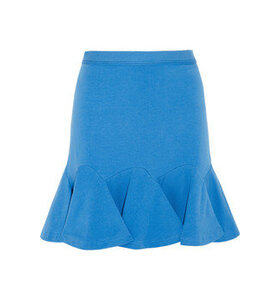 Flared stretch-cotton mini skirt