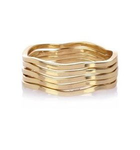 Gold plated stacking ring set