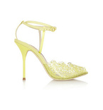 Kiki lace-print PVC and leather sandals