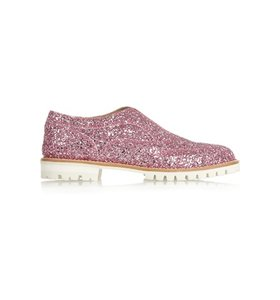 L' F Shoes + Gipsy Ilga glitter-finished leather brogues
