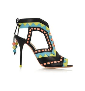 Riko cutout patent-leather sandals