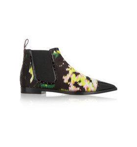 + Erdem printed silk Chelsea boots