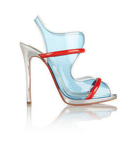 Aqua Ronda leather and PVC sandals