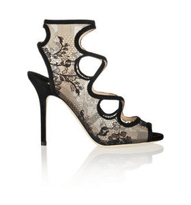 Jalislo cutout suede and lace sandals