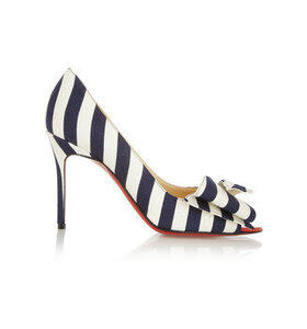 Just Soon 85 striped canvas pumps