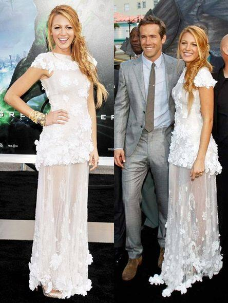 名人婚禮, Blake Lively, Marchesa, 婚紗