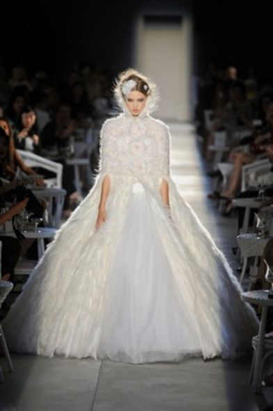 2012 haute couture wedding gown