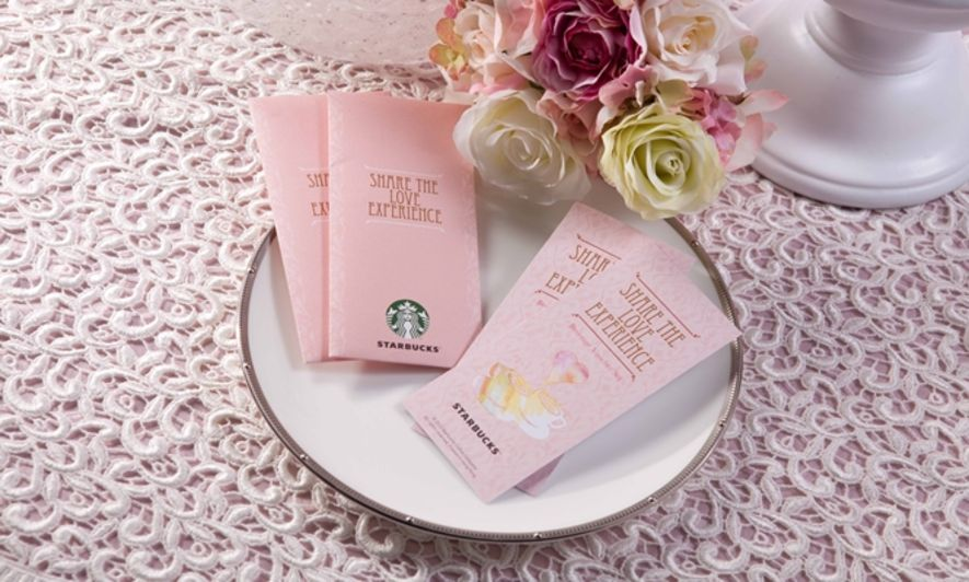starbucks wedding beverage voucher set