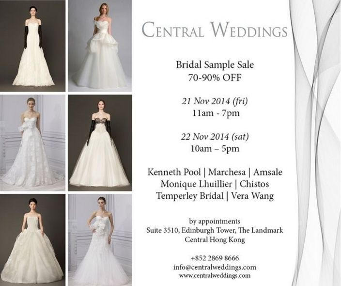Central Weddings Sample Sale 資料