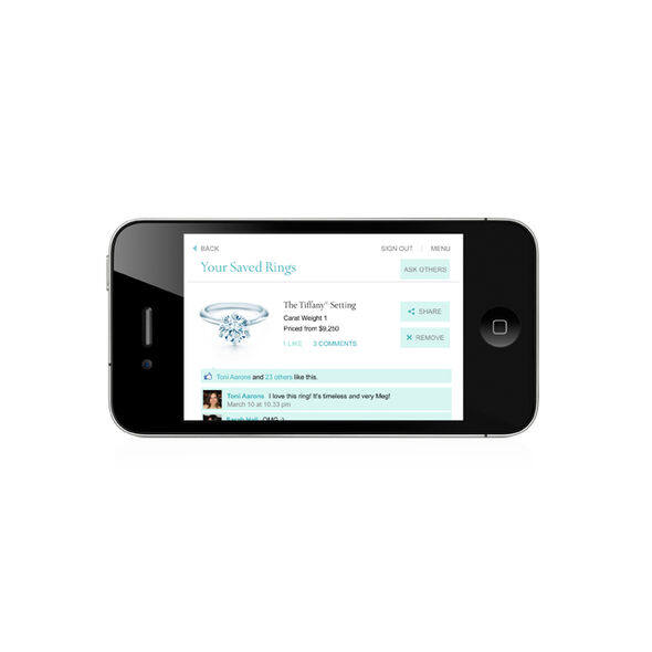 tiffany engagement ring finder iphone app